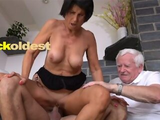 Watch Old Man Licks Cum off His Wife Yettaon largeporntube.asia