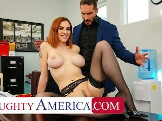 Watch Naughty America - Lilian Stone drains her boss' balls to help relieve his stresson largeporntube.asia