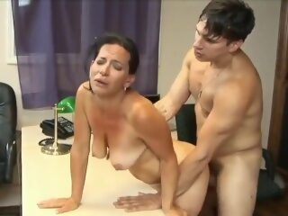 Watch stunning 63yo mature mom with hot body having orgasm with her 22yo bosson largeporntube.asia