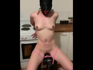 Watch Bound slave gagged with vibrator tortureon largeporntube.asia
