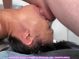 Watch Must See! Throat Bulge Deepthroat Face Fucking Upside Down Sloppy Cum in Mouth Shantel Deeon largeporntube.asia